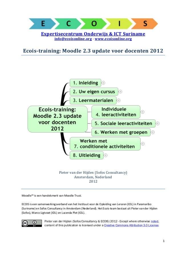 ExpertisecentrumOnderwijs&ICTSuriname                         info@ecoisonline.org - www.ecoisonline.org Ecois-train...