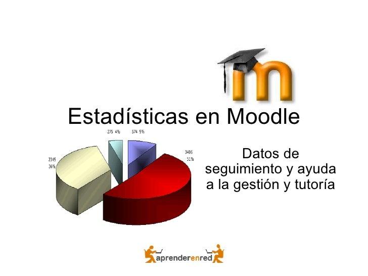 Estadísticas en Moodle Datos de seguimiento y ayuda a la gestión y tutoría