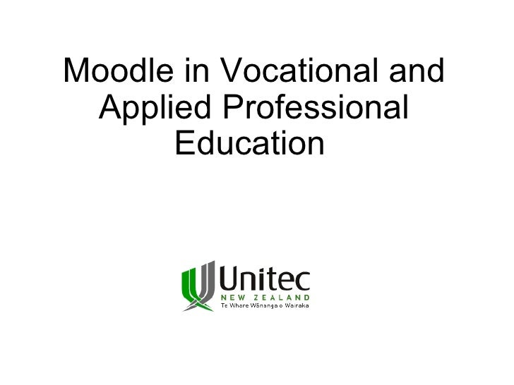 Moodle in Vocational and Applied Professional Education