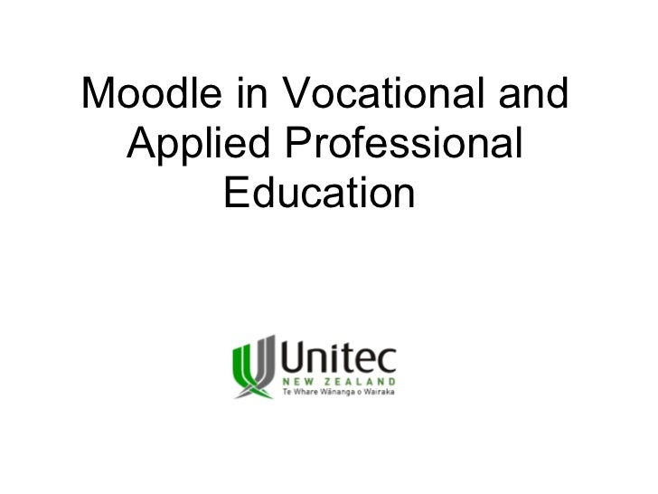<ul>Moodle in Vocational and Applied Professional Education   </ul>