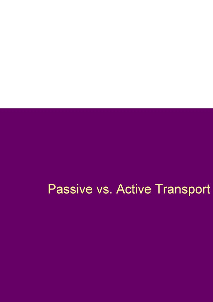 Passive vs. Active Transport