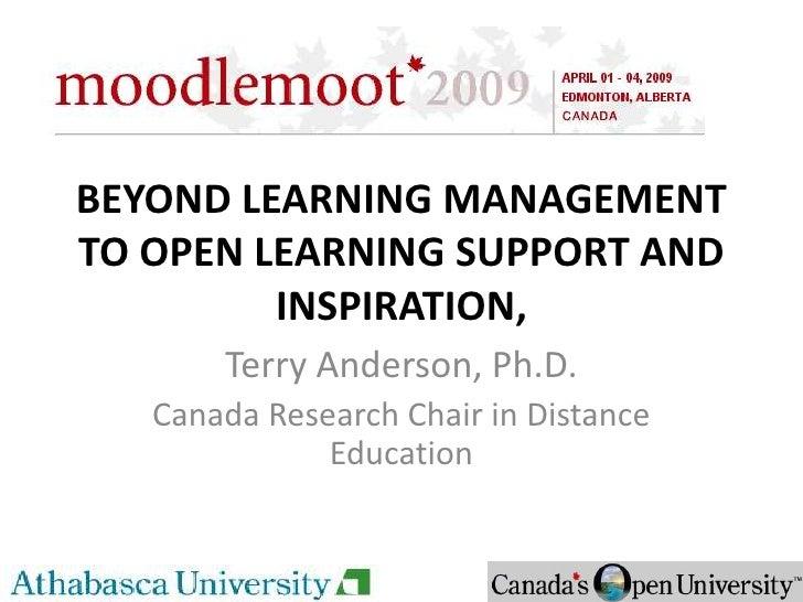 Beyond LMS Keynote to Canada Moodlemoot 2009