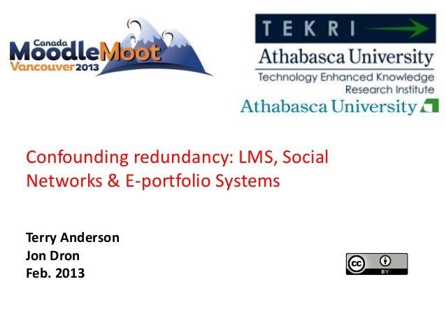 Confounding redundancy: LMS, Social Networks & E-portfolio Systems - Moodlemoot 2013 ple returns