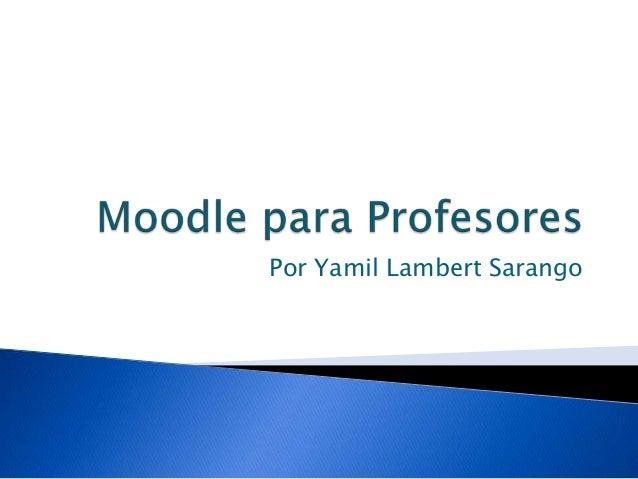 Moodle para profesores