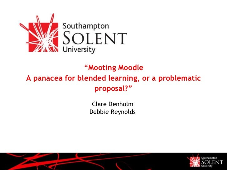 "Presentation Name<br />December 05<br />""Mooting MoodleA panacea for blended learning, or a problematic proposal?""<br />Cl..."