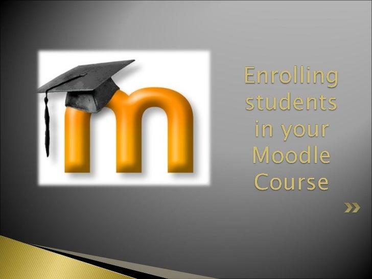 Moodle student enrollment (nvhs)