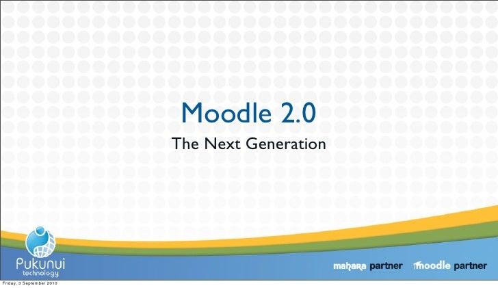 Moodle: The Next Generation