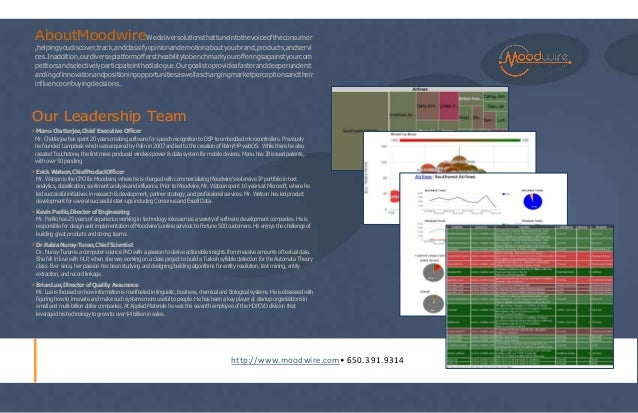 Moodwire Company Brochure