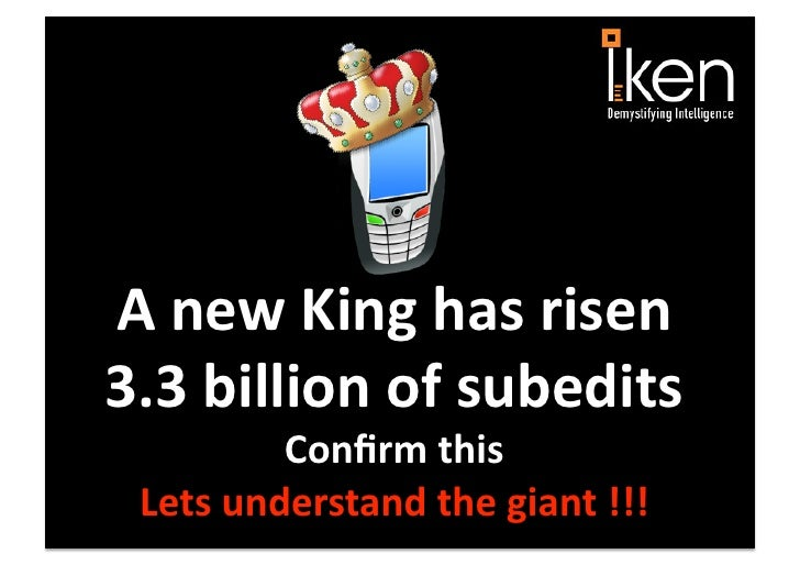 "A new King has rise ""The mobile phone"""