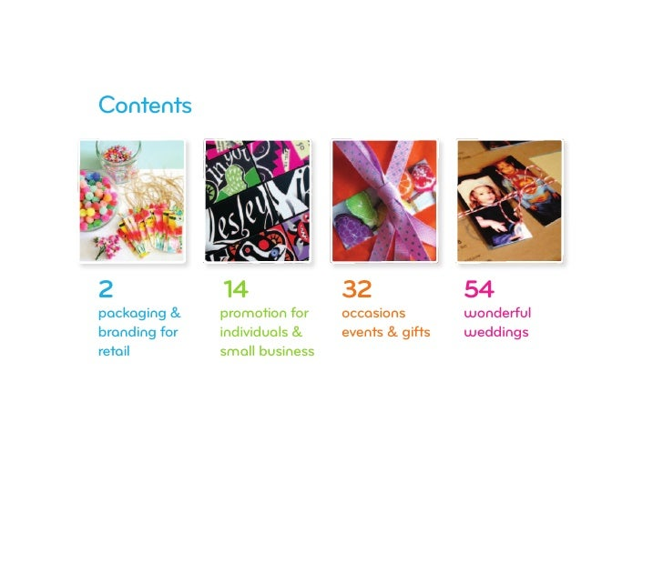 Contents     2              14               32               54 packaging &    promotion for    occasions        wonderfu...