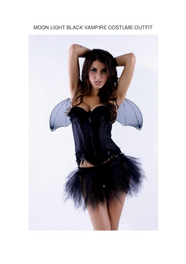 MOON LIGHT BLACK VAMPIRE COSTUME OUTFIT