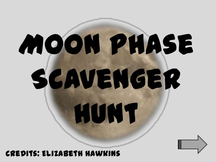 Moon phases scavengerhunt