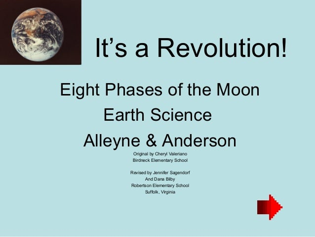 It's a Revolution!Eight Phases of the Moon      Earth Science   Alleyne & Anderson         Original by Cheryl Valeriano   ...