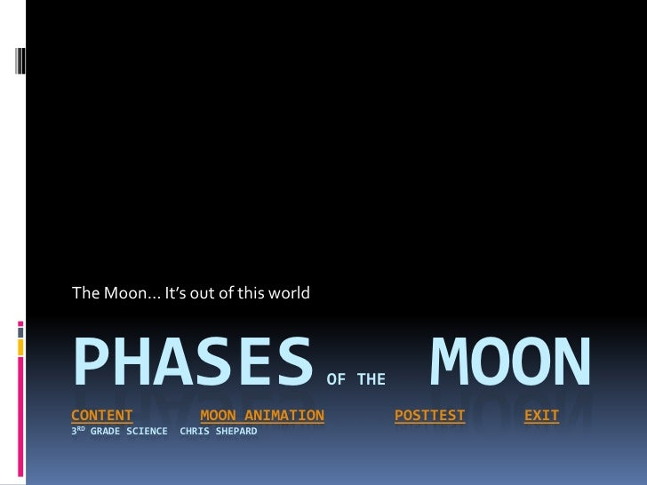 The Moon… It's out of this world    PHASES CONTENT                  MOON ANIMATION                                        ...