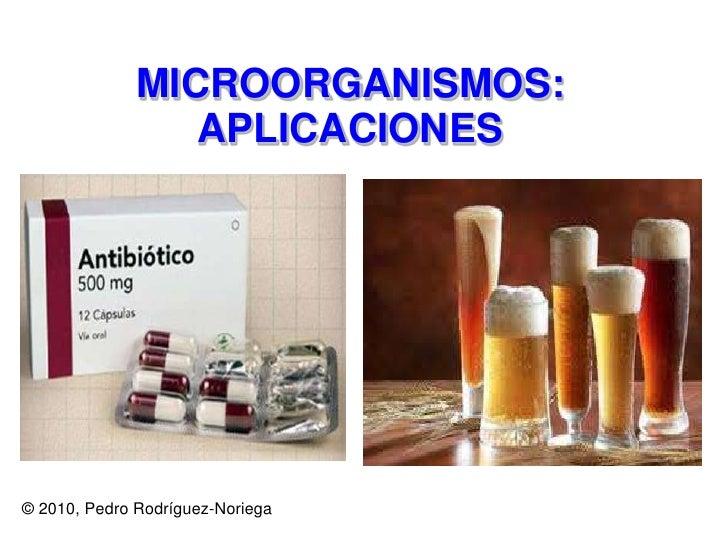 MICROORGANISMOS: APLICACIONES<br />© 2010, Pedro Rodríguez-Noriega<br />