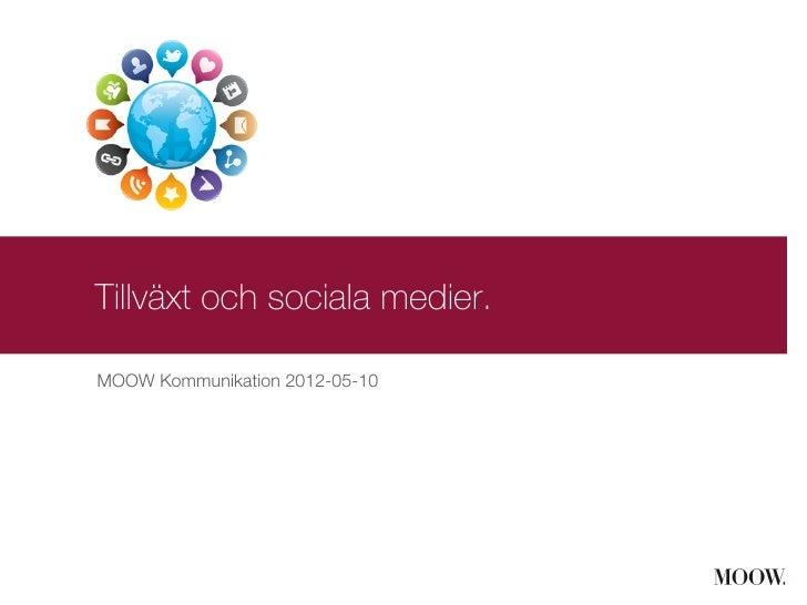 Tillväxt och sociala medier.MOOW Kommunikation 2012-05-10