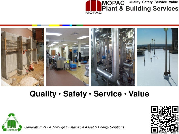 Quality Safety Service Value   Quality ● Safety ● Service ● ValueGenerating Value Through Sustainable Asset & Energy Solut...