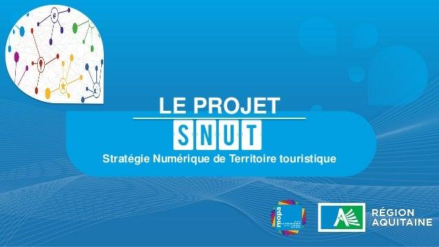 LE PROJET  SNUT  Stratégie Numérique de Territoire touristique