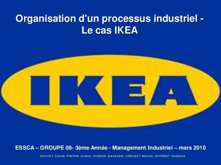 Organisation dun processus industriel -             Le cas IKEAESSCA – GROUPE 08- 3ème Année - Management Industriel – mar...
