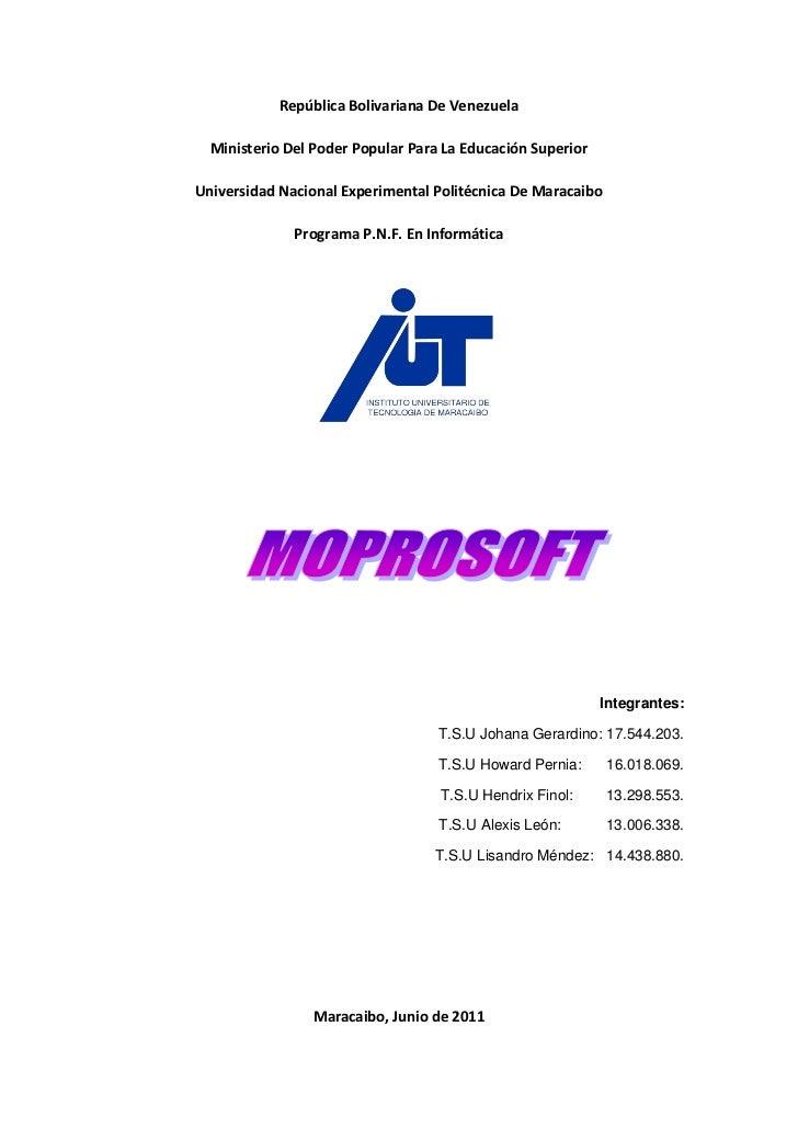 Moprosoft informe de investigación