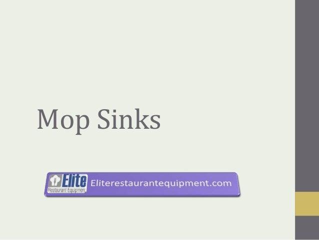 Mop sinks | Elite Restaurant Equipment