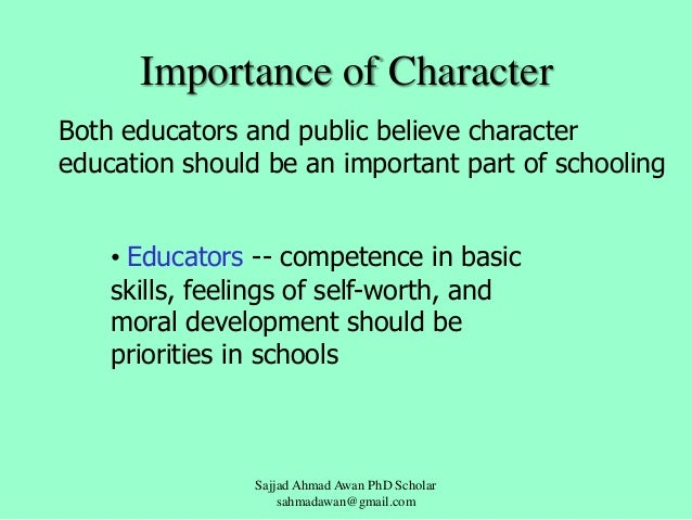 importance of moral education for youth The secret to youth moral feel like they've got some type of role and some importance intersection of positive youth development and education.