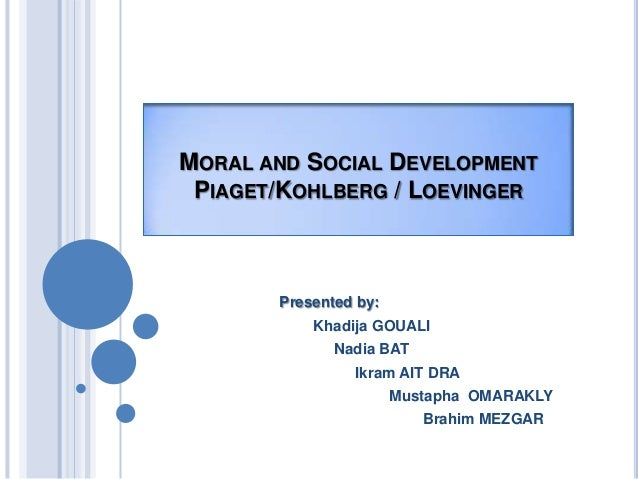 social and moral development Educational psychology social, moral and cognitive development to understand the characteristics of learners in childhood, adolescence, adulthood, and old age, educational psychology develops and applies theories of human development.
