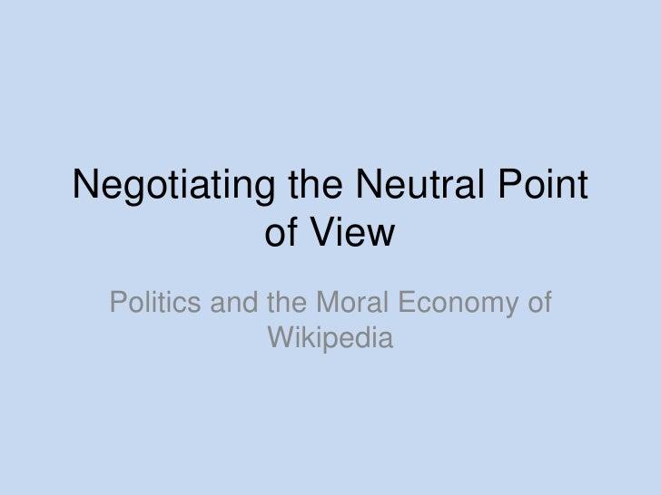 Moral Economy Of Wikipedia