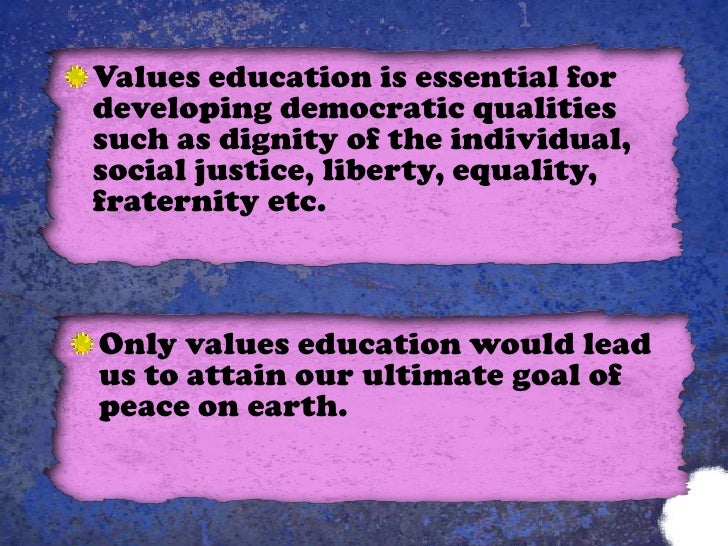 essays on moral education Before 1976, education was the exclusive responsibility of the states in the constitutional amendment of 1976, education was included in.