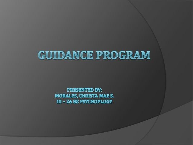 Morales guidance program