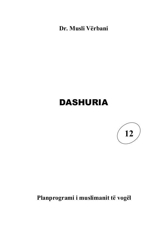 Dr. Musli Vërbani       DASHURIA                               12Planprogrami i muslimanit të vogël