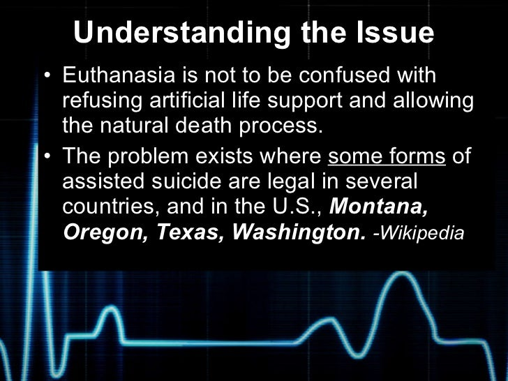 the morality and practicability of euthanasia Supreme court to wait for government's stand on euthanasia - the law officer apprised the bench about the 241st report of the law commission which has stated that passive euthanasia should be allowed with certain safeguards and there was a proposed law -- medical treatment of terminally ill patient (protection of patients and medical.
