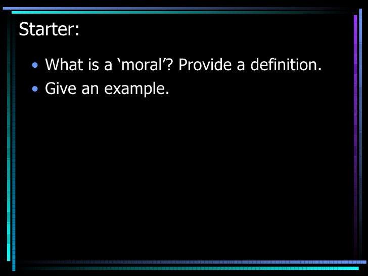 Moral Panic Intro