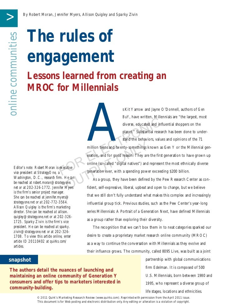MROC Rules of Engagement