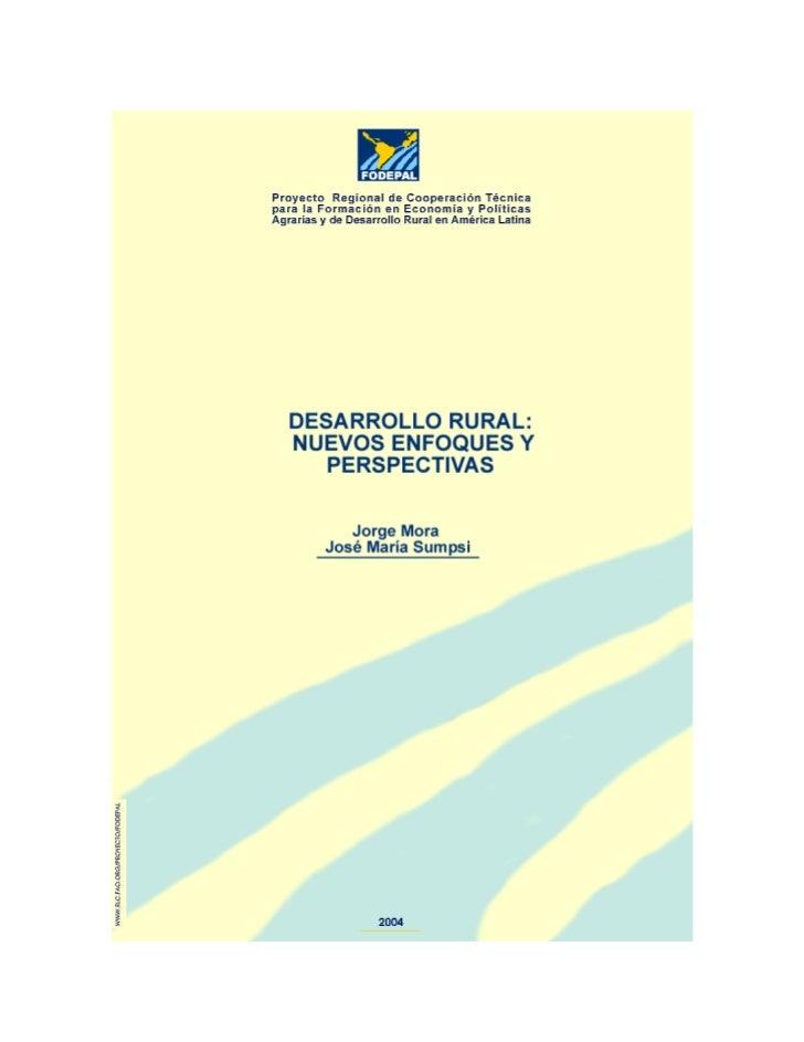 Cuadernos FODEPAL                                                          Desarrollo Rural                               ...