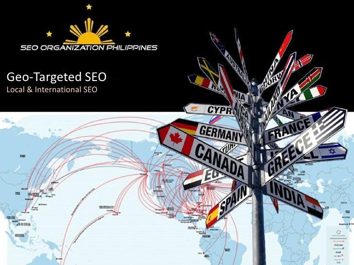 Geo-Targeted SEOLocal & International SEO