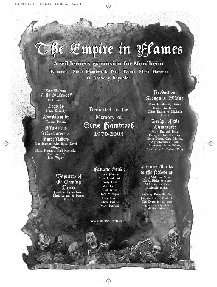 EMP_FLA_01_03   29/1/04    10:22 am    Page 1            The Empire in Flames                          A wilderness expans...