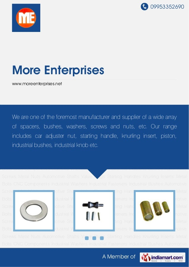 Industrial Washers by More enterprises