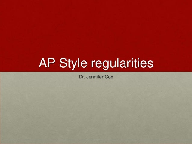 More AP Style