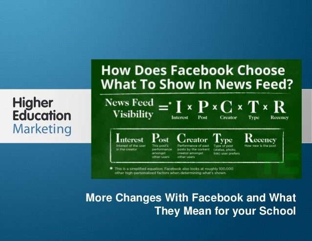 More Changes With Facebook and What They Mean for your School Slide 1 More Changes With Facebook and What They Mean for yo...