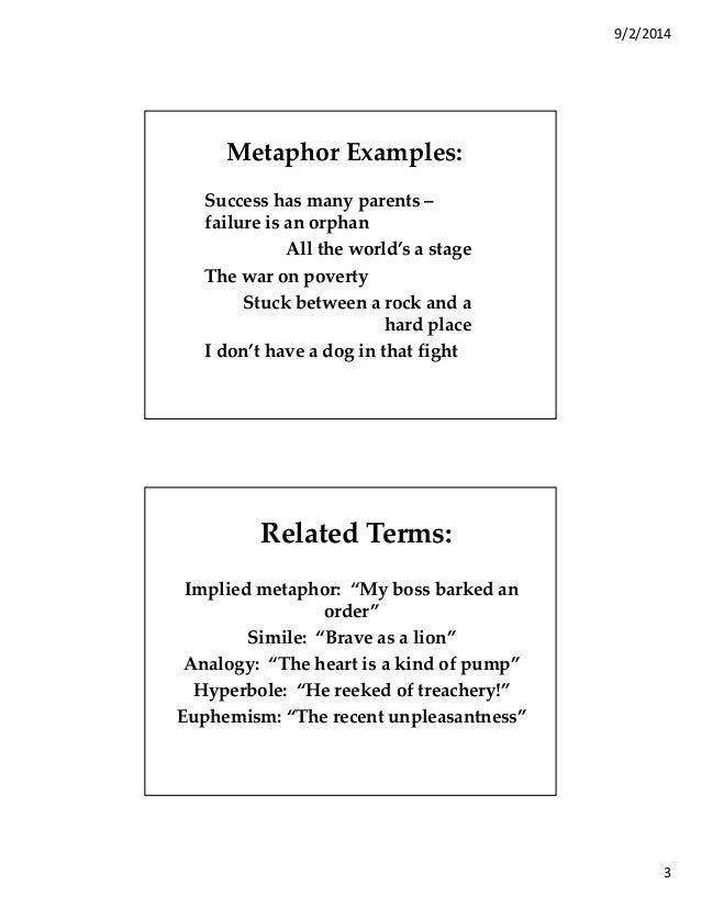 New Examples Of Metaphors Easy Example