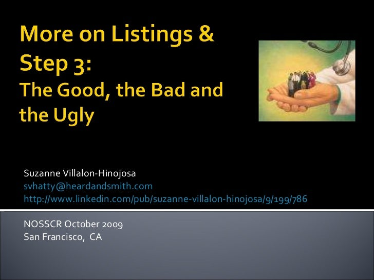 Suzanne Villalon-Hinojosa [email_address] http://www.linkedin.com/pub/suzanne-villalon-hinojosa/9/199/786 NOSSCR October 2...