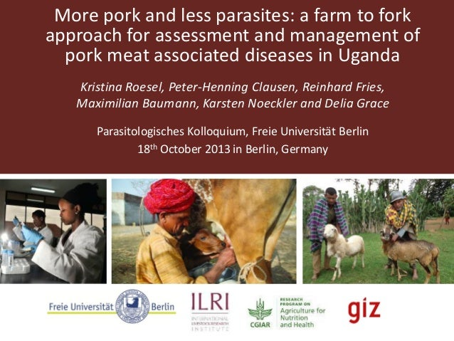 More pork and less parasites: a farm to fork approach for assessment and management of pork meat associated diseases in Ug...