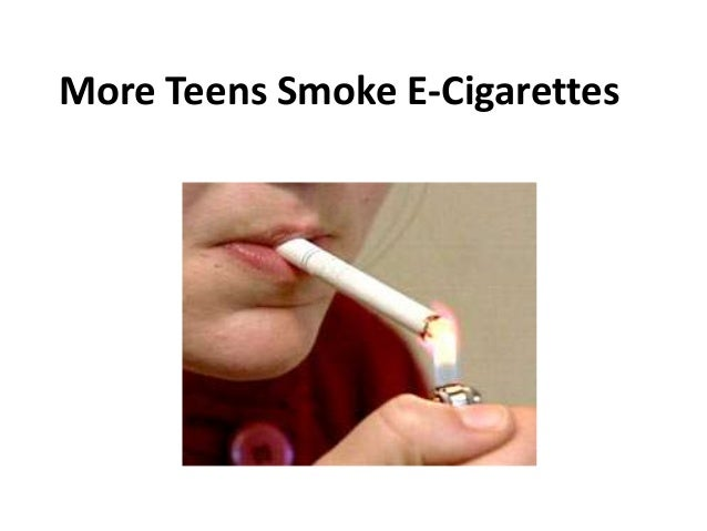 More Teens Smoke E-Cigarettes