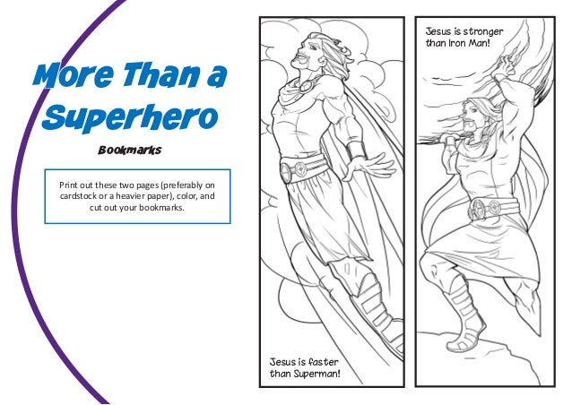 Free Bible Superheroes Coloring Pages