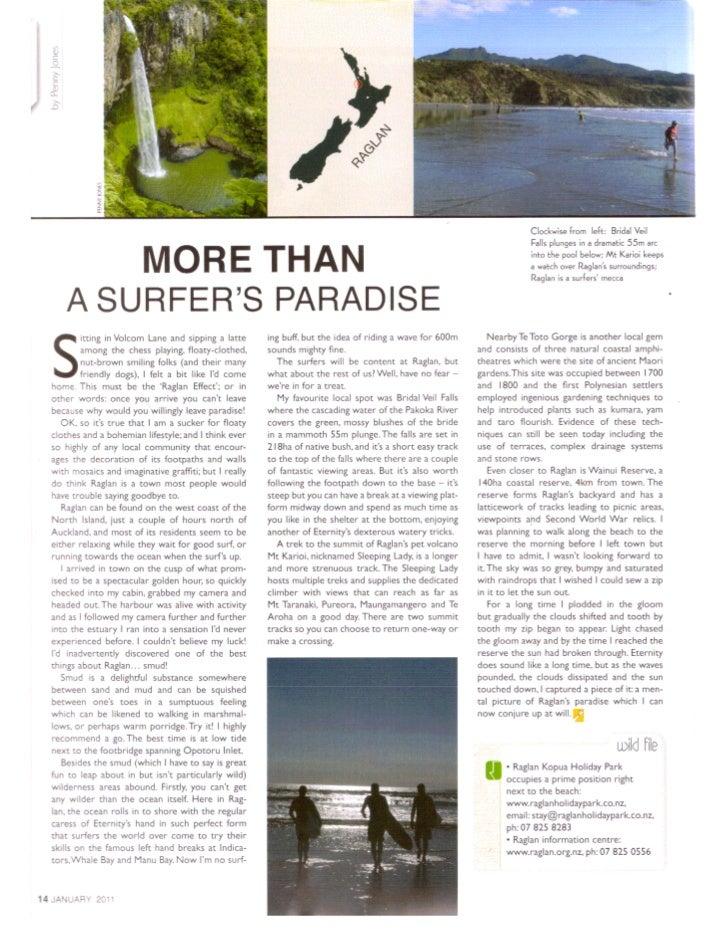 More than a Surfer's Paradise - Raglan - Jan 11