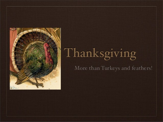 Thanksgiving More than Turkeys and feathers!
