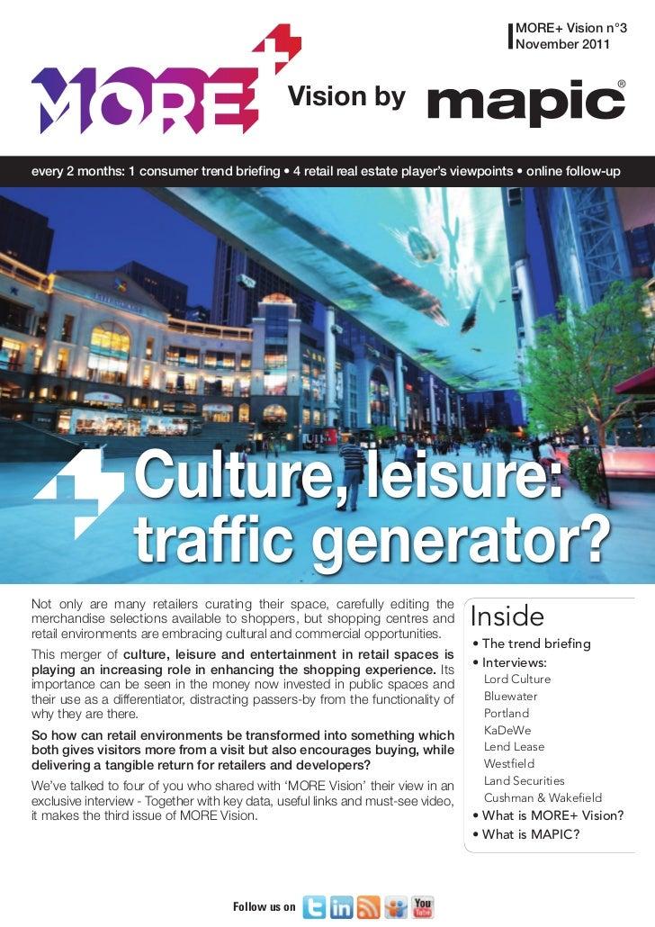 MORE+ vision #3 Culture Leisure
