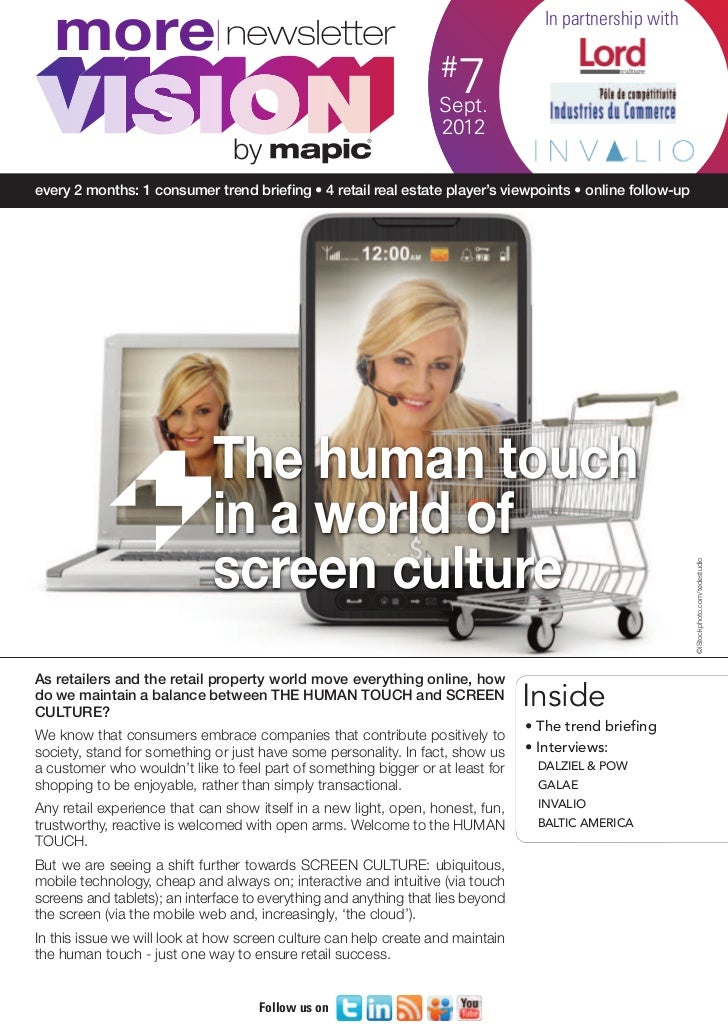 More VISION newsletter 7: The human touch in a world of screen culture