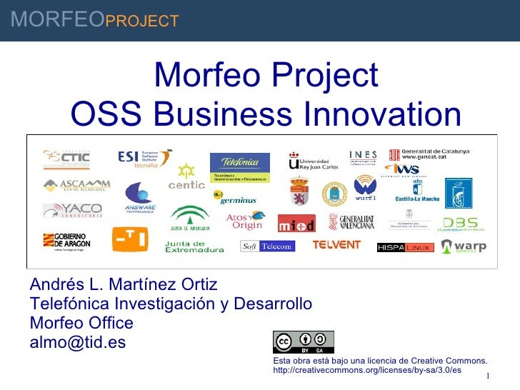 Morfeo Project OSS Business Innovation